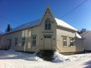 Fasaden en vinterdag